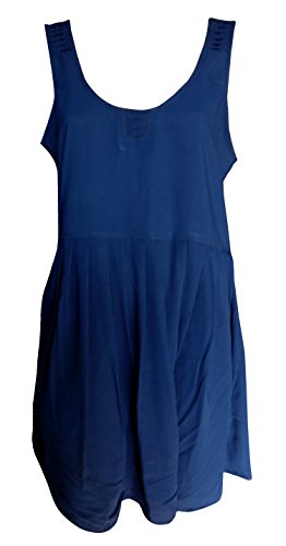 Sunrose Navy Blue solid plain partywear designer dress