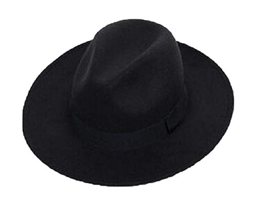Freitop Fedora Damen Hut Schwarz Grau Blau