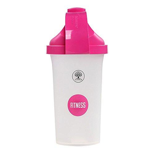 Vitna Workout Shaker 500 ml, hochwertige Shakerflasche, Proteinshaker, Sportflasche, Fitnessflasche, Trinkflasche, spülmaschinenfest, praktisch und handlich, mit ergonomischer Form, BPA-frei