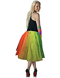 Crazy Chick 3 Layer Rainbow TuTu Skirt 26 Inches Long