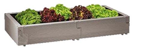 JUWEL 20476 Beet/Hochbeet Timber Aufbauset | Erweiterung für Das Kräuterbeet Timber, Garantiert BPA- und schwermetallfrei, Höhe Wärmeisolierung durch geschäumte Wandstruktur | 130 x 60 x 20 cm