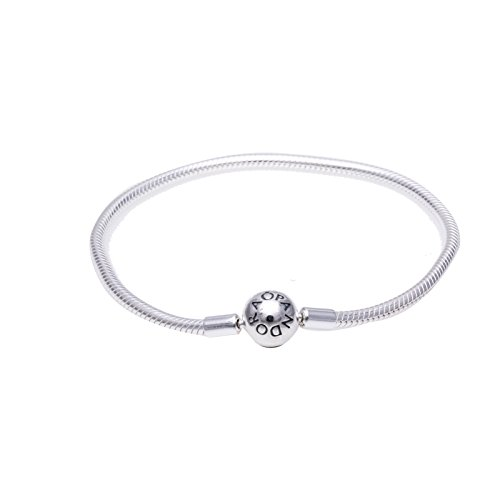 ae33fb432 Pandora 590728-23 Sterling Silver Smooth Clasp Bracelet 9.1 in by PANDORA