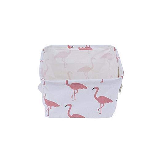 oplon Aufbewahrungsbox Aufbewahrungskorb Aufbewahrungsbehälter Ohne Deckel mit Griffen Wasserdicht Klein aus Baumwolle und Leinen Korb Organizer Boxen Container 19X15X15.5cm (Typ6)