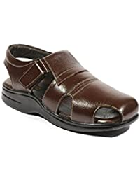 Ice Bull Leather Sandal With Brown Color(JESL022) With Size(6-10) Sandals And Floaters For Mens, Boys And Gent's