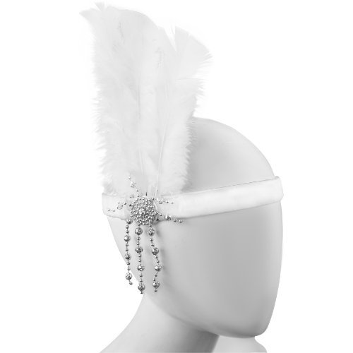 Sofias Closet Womens 1930's 1920's Charleston Headdress Fancy Feather Flapper Headband Gangster Mol by Sofias Closet