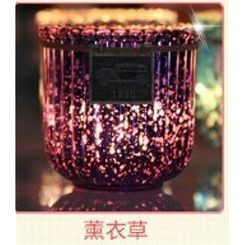 El opaco cristal colorido natural importado de cera de velas para aromaterapia aceite chapado de humo con velas de vidrio