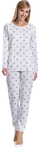 Italian Fashion IF Pyjama Femme Aries 0223 Ecru/Gris