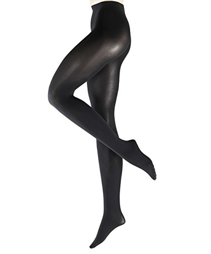 FALKE Damen feine Strumpfhosen / Leggings Warm Deluxe 80 den - 1 Paar, Gr. M, schwarz, matt blickdicht wärmend, Softnaht