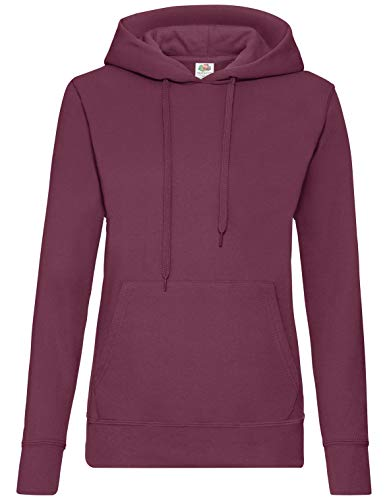 Fruit of the Loom - Classic Lady-Fit Kapuzenpullover \'Hooded Sweat\' M,Burgundy