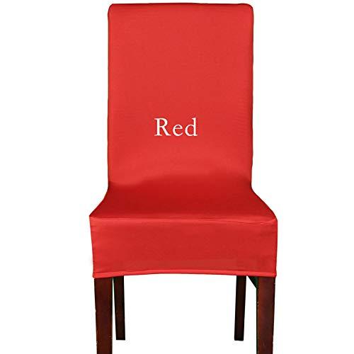 h Sitzbezüge Große Förderung Günstige Spandex Maschine Waschbar Stuhlabdeckung Für Hotel Esszimmer Dekoration Red 45X45X48cm ()