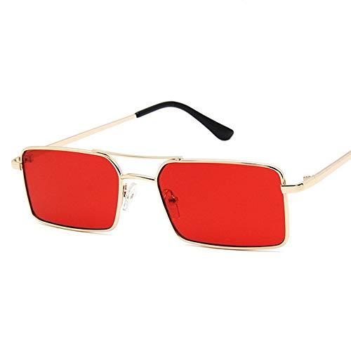 Sxuefang Sonnenbrillen Vintage Herren Rechteck Metall Sonnenbrille Damen Kleine Retro Shades Eyewear UV400