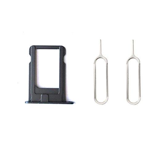 Sim Kartenhalter + 2 Pins Eject für iPhone 5 Schwarz (Iphone 5 Sim Karten Verizon)