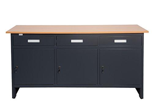 Werkbank Grosny Jet-Line Werktisch 1.7 m in anthrazit Arbeitstisch Werktisch Werkstattschrank Werkstattausrüstung Werkstatt Tisch Montage