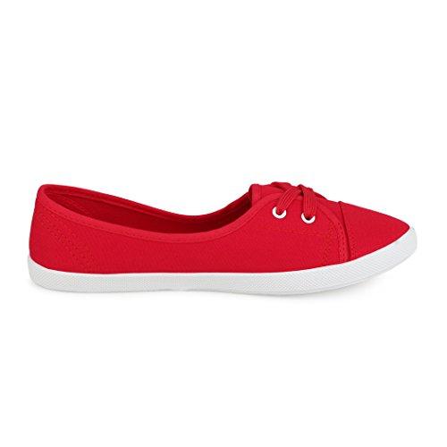 best-boots Ballerine Sneakers Sneaker scarpe da ginnastica Textil Rot