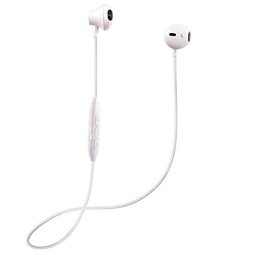 Auriculares Bluetooth magnético 4.1 Cascos inálambrico Deportivos con Micrófono Manos Libre Estéreo Headphones con cancelación de ruido Anti-Sudor para iPhone X / 8/7 Plus Samsung Galaxy S7 / S8 Android(blanco)
