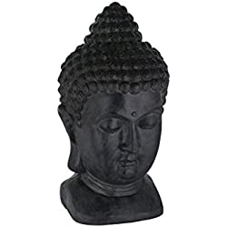 Greemotion 124228 – Cabeza de Buda, 27 x 25 x 49 cm, color negro