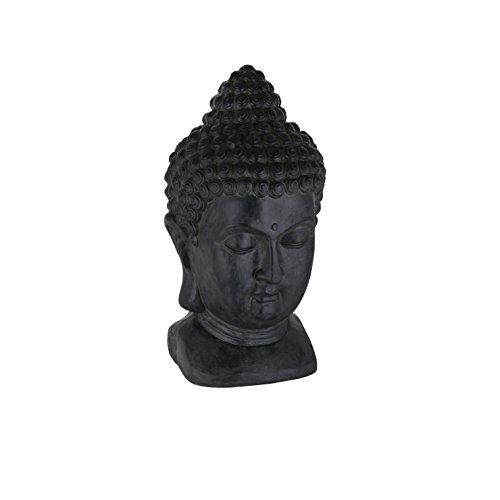 greemotion 124228Tête Bouddha décorative, 27x 25x 49cm, Noir