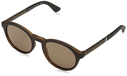 Tommy hilfiger th 1476/s 70 n9p 51 occhiali da sole, marrone (matt havana/brown), uomo