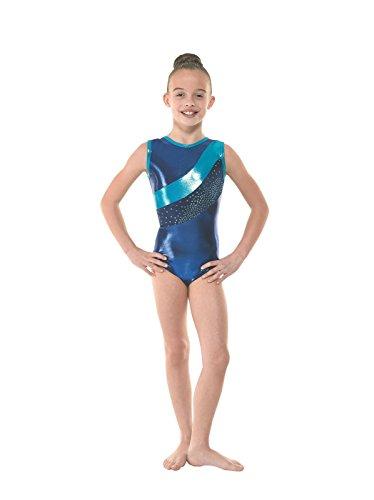 Tappers Pointers Gymnastik-Body, ärmellos, inkl. passendem Haargummi Amazon Gym33 Blau Blau blau 2 Age 9-10 years