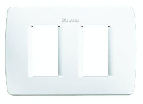 BTICINO C4803/2BN - LUNA - PLACCA MODULO 503 2P BIANCA