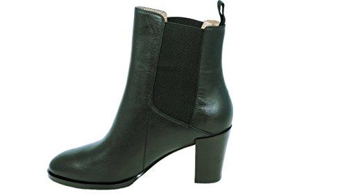 kleine aber feine Stiefel Größe 35 für Damen - Schwarzer Kurzschaft Stiefel in Chelsea Boots Optik - Hochwertige Qualität in Untergröße (Glattleder-stiefel)