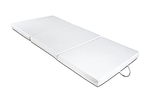 Futon Easy Foldable Mattress with Polyurethane Foam Core, 97 x 200 H 9 cm