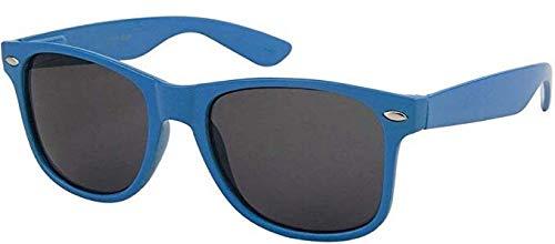 Sonnenbrille Nerdbrille retro Art. 4026 - Boolavard® TM (Dunkelblau Tönung)