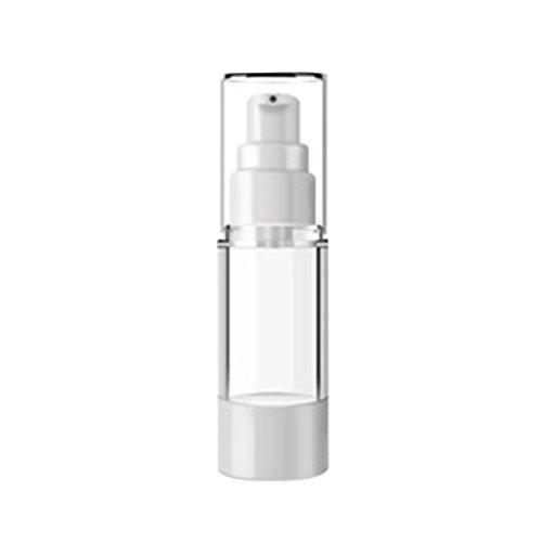 Pouybie 3 Stück Lotion Unterflaschen Creme-Shampoo Spender Reise-Pump-Flaschen klar Toiletries Flüssigkeitsbehälter auslaufsicher tragbar 100/80/50/15 ml, 30ml, 30 ml - 30-ml-pump-flasche