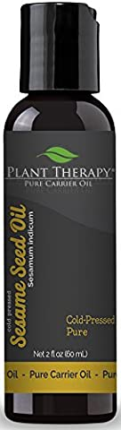 Plant Therapy Essential Oils Sesame Seed Carrier Oil. 2 Oz. A Base For Aromatherapy, Essential Oils Or Massage.
