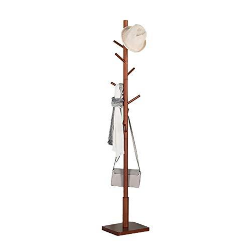Kleiderständer Freistehende Tragbare Kleiderbügel Mit Fester Basis Für Familie Korridor Coat Tree Coat Finishing (Color : Wine Red) - Coat Tree