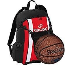 Spalding Basketball Rucksack rot/schwarz incl. Ballnetz