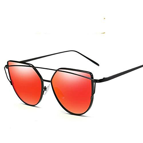 ZHOUYF Sonnenbrille Fahrerbrille Vintage Rose Gold Verspiegelte Sonnenbrille Damen Metall Reflektierende Flugzeug Objektiv Sonnenbrille Damenbrille, C