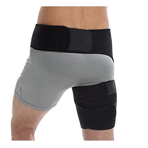 148b9d90a RoadRomao Compresión Ajustable Soporte Hombres Mujeres Compresión  Levantamiento de Pesas Muslo Cintura Wrap