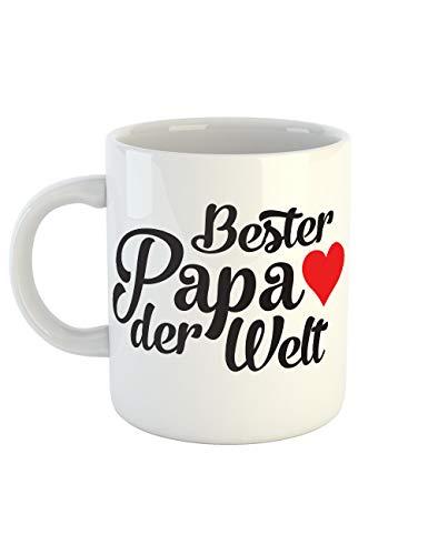 clothinx Kaffeetasse mit Aufdruck Bester Papa Der Welt