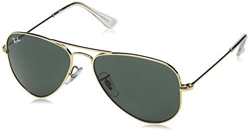RAYBAN JUNIOR Unisex-Kinder Sonnenbrille 0rj9506s 223/71 52, Gold/Green