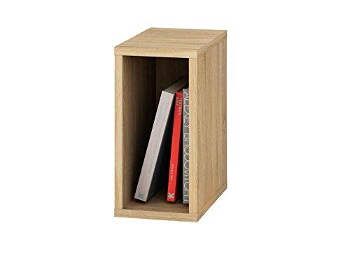 Eiche Stapelbar (Samblo mizu Slim Cube stapelbar, Holz und Melamin, Eiche, 40x 20x 33cm)