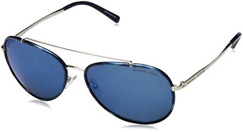 Michael Kors Damen IDA 116755 59 Sonnenbrille, Navy/Silver-Tone/Navymirror,