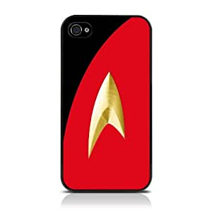 Apple iPhone 4/4S Film TV Collection Star Trek Uniform Red Glossy Hard Back Cover Case / Shell / Shield by Call Candy