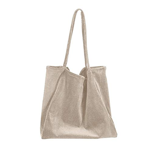 DAKERTA Groß Damen Cord Umhängetasche für Uni Schule College Outdoor Damenmode Kapazität Falttasche aus Segeltuch