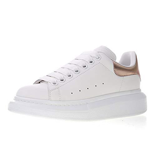 Uomo Donna Pelle Bianco Sneakers Casual Scarpe - Sportive Fitness Running  Outdoor Scarpe da Ginnastica Corsa 3001a8a7598