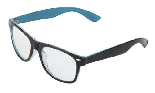 Sonnenbrille Nerdbrille retro Artikel 4026-62 blau / klar / transparent
