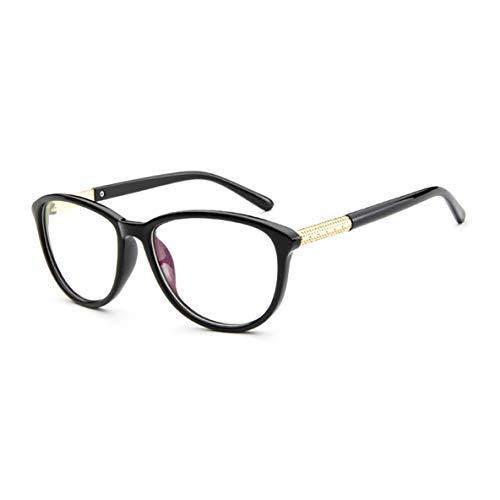Noradtjcca Rahmen für einfache Brillen Rahmen für kurzsichtige Brillen Einfacher übergroßer Metall- und PC-Rahmen Optischer Brillenrahmen
