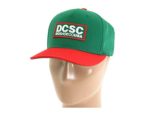 DC Shoes CO. Robson Snapback Hat Kelly Green/Red