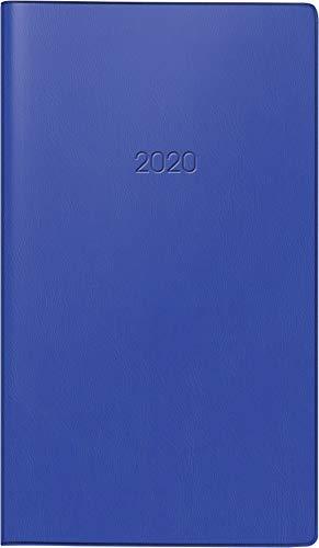 BRUNNEN 107582830 Taschenkalender Modell 758 (1 Seite = 1 Woche, 8,7 x 15,3 cm, Kunststoff-Einband, Kalendarium 2020) dunkelblau