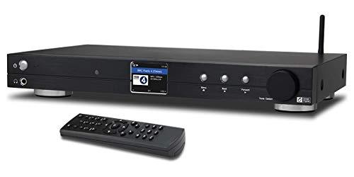 Ocean Digital Sintonizzatore Radio Internet Wi-Fi (430 mm) WR10 DAB+/DAB/FM/Ricevitore Bluetooth Ethernet Schermo a Colori 2.4' TFT con Uscita Digitale per Connettere Sistema Hi-Fi - Nero