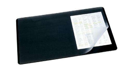 Durable Schreibtischunterlage mit Overlay (40 x 53 cm) 5 Stück schwarz
