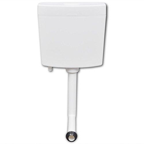 vidaXL Spülkasten für WC Toiletten mit 2 Spültasten Aufputzspülkasten 3/6 Liter Weiß
