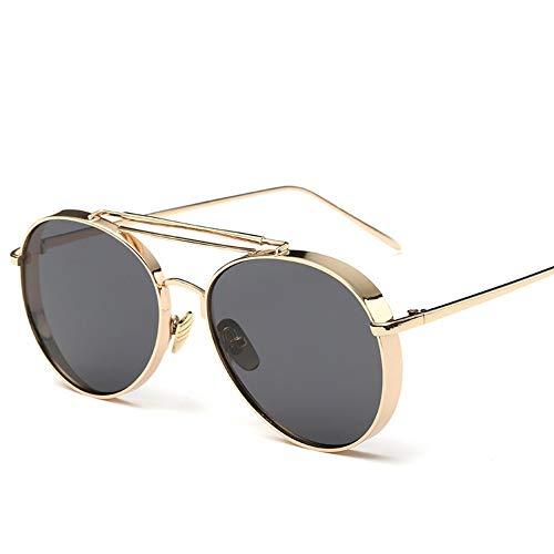 Sonnenbrillen. Retro Pilot Sonnenbrille Frauen Gespiegelt Steampunk Runder Kreis Schattierungen Vintage Outdoor Reisen Sommer Staub Uv400 Gold Grau
