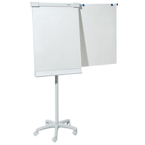 Dahle 95037 Flip-Chart-Block (Offset, 70 g/qm, kariert, 20 Blatt gerollt, 68 x 95 cm) 5er Packung weiß