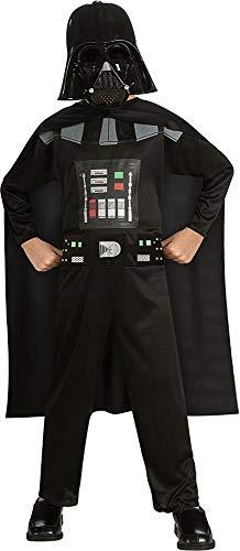 Rubie's   Disfraz Darth Vader Star Wars de niño de 5 a 6 años (882848 MD)